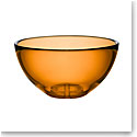 Kosta Boda Bruk Crystal Serving Bowl, Amber