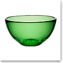 Kosta Boda Bruk Crystal Large Serving Bowl, Apple Green