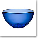 Kosta Boda Bruk Crystal Large Serving Bowl, Water Blue