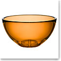 Kosta Boda Bruk Crystal Large Serving Bowl, Amber