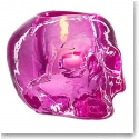 Kosta Boda Still Life Skull Crystal Votive, Pink