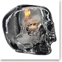 Kosta Boda Still Life Skull Crystal Votive, Grey