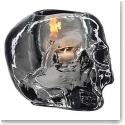 Kosta Boda Still Life Skull Votive, Grey