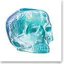 Kosta Boda Still Life Skull Crystal Votive, Light Blue