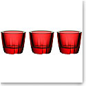 Kosta Boda Bruk Votive, Anything Bowl Deep Red, Set of Three