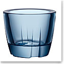 Kosta Boda Bruk Votive, Anything Bowl Water Blue, Set of Three