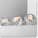 Kosta Boda Snowball Votives in Various Sizes, Set of Three