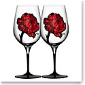 Kosta Boda Tattoo Crystal Wine Glasses, Pair