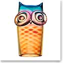 Kosta Boda My Wide Life Owl, Yellow and Red