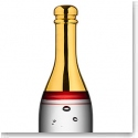 Kosta Boda Celebrate Crystal Champagne Bottle, Red
