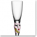 Kosta Boda Open Minds Crystal Shot Glass, Pink, Single