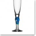 Kosta Boda Open Minds Blue Crystal Champagne, Single