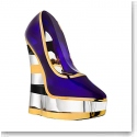 Kosta Boda Make Up Shoe, Stripe Amethyst