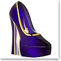 Kosta Boda Make Up Shoe, Amethyst Stiletto