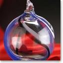 Kosta Boda Contrast Ornament, Blue, Black and White