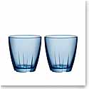 Kosta Boda Bruk Small Water Blue Tumbler, Pair