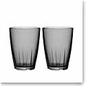 Kosta Boda Bruk Large Smoke Grey Tumbler, Pair