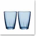 Kosta Boda Bruk Large Water Blue Tumbler, Pair