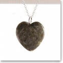 Cashs Ireland, Sterling Silver and Connemara Marble Heart Pendant Necklace