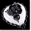 Kosta Boda Art Glass Ludvig Lofgrens Old School, White and Black Heart