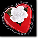 Kosta Boda Art Glass Ludvig Lofgren Old School, Red Heart