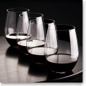 Riedel O Stemless, Cabernet, Merlot Glass Buy 3 Get 1 Crystal Wine Glasses, Set