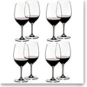 Riedel Vinum, Cabernet, Merlot Crystal Wine Glasses, Set of 6+2 Free