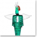 Kosta Boda Art Glass, Kjell Engman Check Man Green, Limited Edition