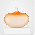 "Kosta Boda Crystal Beans Orange 14"" Vase"
