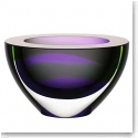 Kosta Boda Art Glass, Ludvig Lofgren Oval Crystal Bowl Purple, Limited Edition