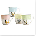 Lenox Butterfly Meadow Dinnerware Dessert Mug Set Of Four