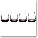 Riedel Stemless Winewings Pinot Noir, Set of 4