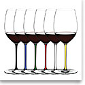 Riedel Fatto A Mano, Cabernet, Merlot Crystal Wine Glasses, Set of 6
