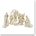 Lenox First Blessings Holiday Miniature Nativity Set, 7 Piece Set