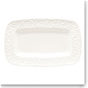 Lenox Opal Innocence Carved Dinnerware Hors D'Oeuvres Tray