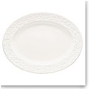 Lenox Opal Inn Carved Dinnerware Oval Platter