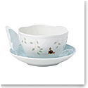 Lenox Butterfly Meadow Dinnerware Figurine Blu Cup And Saucer
