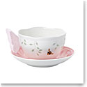 Lenox Butterfly Meadow Dinnerware Figurine Pnk Cup And Saucer
