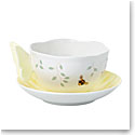 Lenox Butterfly Meadow Dinnerware Figurine Yel Cup And Saucer