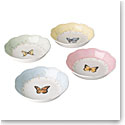 Lenox Butterfly Meadow Dinnerware Dessert Fruit Dish Set Of Four