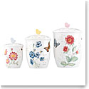 Lenox Butterfly Meadow Dinnerware Canister Set Of Three