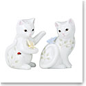Lenox Butterfly Meadow Dinnerware Figurine Kitten Salt And Pepper