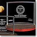 "Crystal Blanc, Personalize! Bent Glass Award 7""x 10.75"""