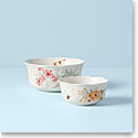 Lenox Butterfly Meadow Dinnerware Nesting Bowls Pair
