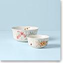 Lenox Butterfly Meadow Dinnerware Nesting Bowls Pair