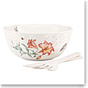 Lenox Butterfly Meadow Dinnerware Salad Bowl 3Pc Set