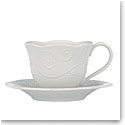 Lenox French Perle White Dinnerware Cup And Saucer