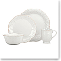 Lenox French Perle White Dinnerware 4 Piece Place Setting