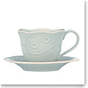 Lenox French Perle Blue Dinnerware Cup And Saucer