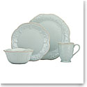 Lenox French Perle Blue Dinnerware 4 Piece Place Setting